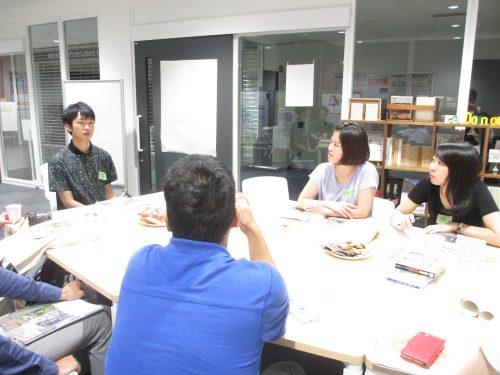「とこなめ物語」作成に関わった愛知淑徳大学の学生も話題提供に加わってくれました★