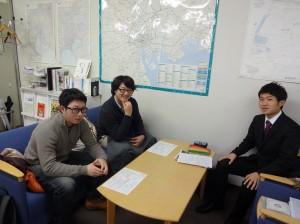 東京で就活を進める3人