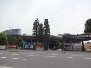 国立競技場千駄ヶ谷門遠景