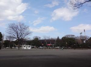 国立競技場明治公園側